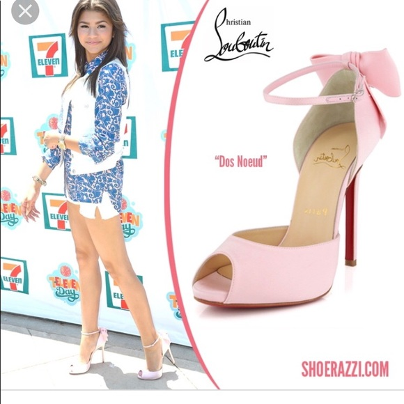 0b924c72fb2 Christian Louboutin Dos Noeud Pink Satin Sandals